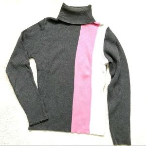 Beechers Brook | Turtleneck Colorblock Shirt